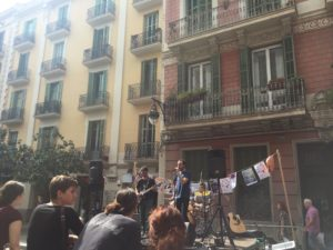 Band on Barcelona street
