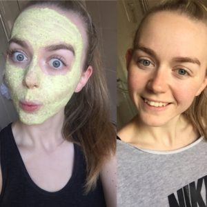 before and after fresh face mask