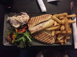 cheese and ham panini at jamaica inn