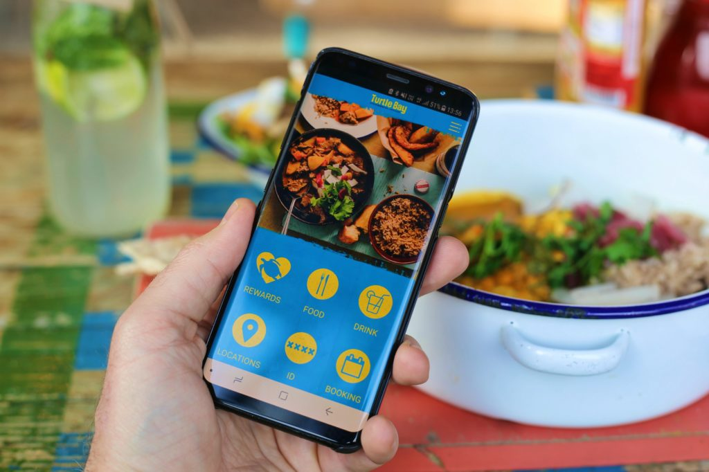 turtle bay app with food