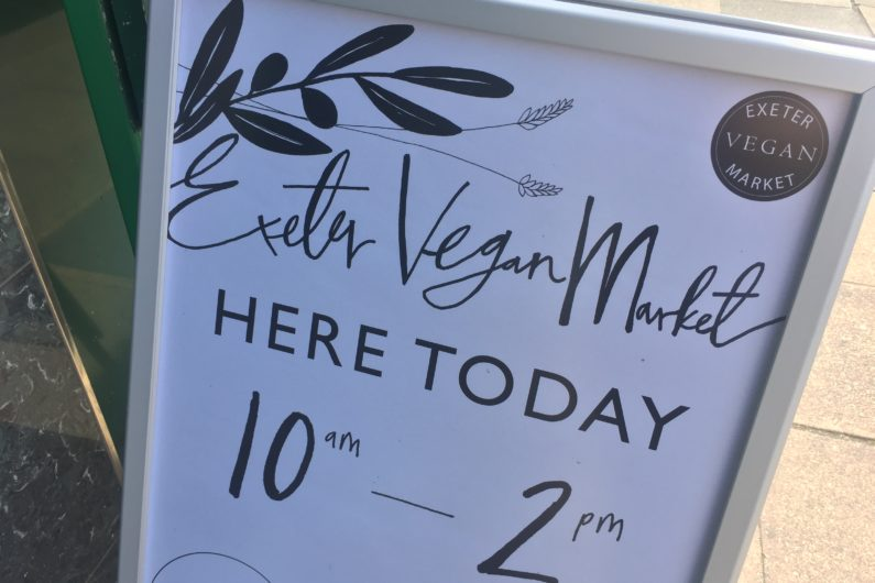 vegan market sign