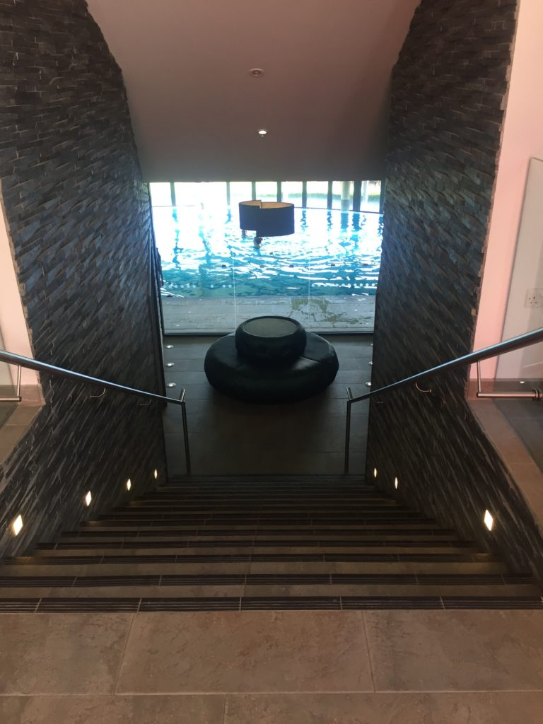 The Clearing Spa stairwell