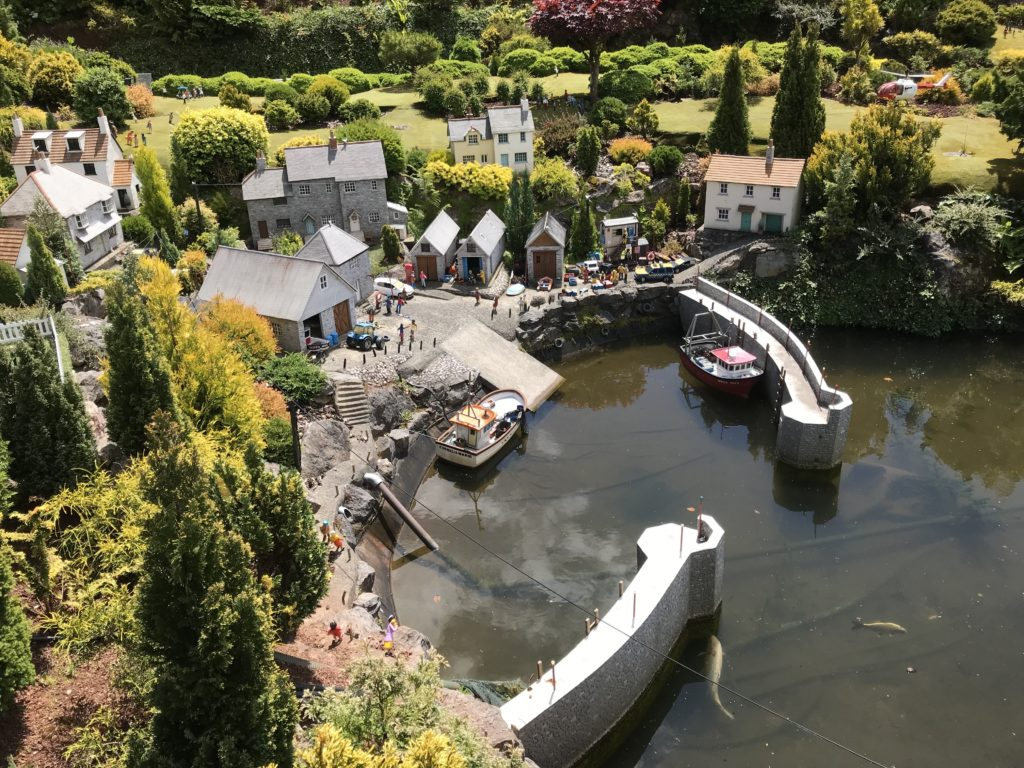 Fishing at babbacombe model village
